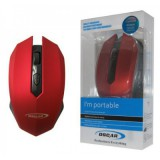 موس بی سیم OSCAR مدل OS-07 قرمز-مشکی