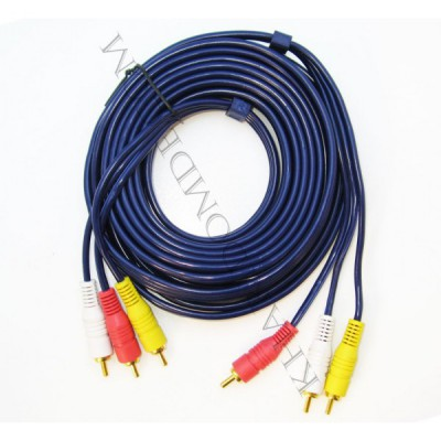 کابل 3 به 3 صدا و تصویر (RCA) 5 متری ضخیم Dolph کد 359