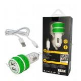 شارژر فندکی USB دو پورت REMAX مدل RX-03 سبز