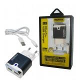 شارژر USB دو پورت Remax مدل RX-D12 مشکی