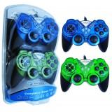 دسته بازی دوبل شوک دار OSCAR مدل OS-G606 آبی سبز