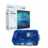 KVM سوئیچ AUTO دو پورت v-net مدل USB2.0