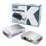 تبدیل VGA به AV و Knet S-video مدل 1801